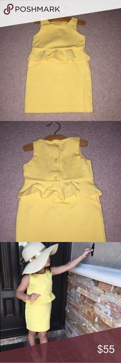 Janie and Jack Yellow Peplum Dress 2T Excellent condition! Pet/smoke free home! Pretty dress! Janie and Jack Dresses Casual
