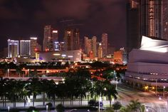 Downtown Miami at night.  #DADvocacy