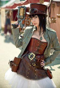 I think I kinda like this...Steampunk girl