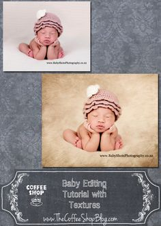 CoffeeShop Photoshop/PSE Tutorial: Editing Baby Portraits with Textures - The CoffeeShop Blog