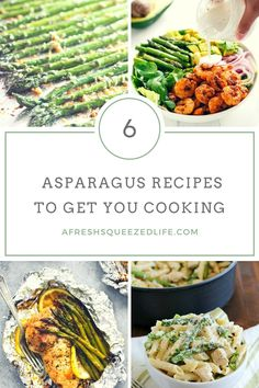Spring is here and that means seasonal veggies are showing up in the grocery store! Let me show you some asparagus recipes to get you cooking!