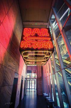 Bar & Restaurant im NHow Rotterdam Niederlande. Hotel