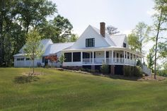 Spacious White Modern Farmhouse with Wraparound Porch. From cozy weekend getaways to rambling estates, these rustic retreats prove that country is cool.