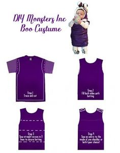 Monsters Inc Boo Costume DIY