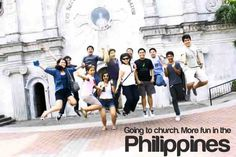 Going to church. More fun in the Philippines More Fun, Philippines