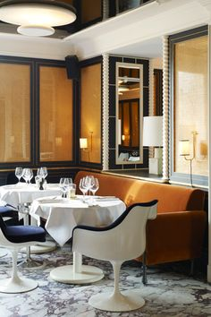 Lou Lou restaurant in Paris. By Joseph Dirand.