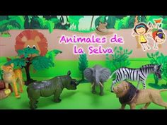 Los Animales de la Selva en Español, Safari para niños. Animales animados