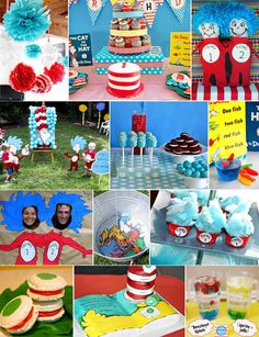 Dr. Seuss Birthday Party! From Left to Right: MISKAMILLER.BLOGSPOT.COM, HOSTESSBLOG.COM, ETSY (WHACK), FLICKR.COM (via Pinterest), ANNIES-EATS.COM, SIMPLEGIRLATHOME.BLOGSPOT.COM, AMOMNOTAPRO.BLOGSPOT.COM, HECKFRIDAYS.BLOGSPOT.COM, KARASPARTYIDEAS.BLOGSPOT.COM, EATLIVETRAVELWRITE.COM, MISKAMILLER.BLOGSPOT.COM, & HOSTESSBLOG.COM