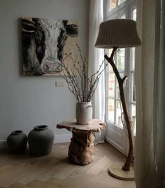 Lamp: tak met stoffen kap - Dutch Delight €295