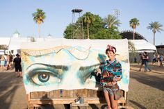 Covered Wagons created by Robin Banks www.artcustoms.com and painted by artist Ashley Bowers at stagecoach 2014