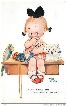 〆(⸅᷇˾ͨ⸅᷆ ˡ᷅ͮ˒)                                                                 Mabel Lucie Attwell vintage postcard