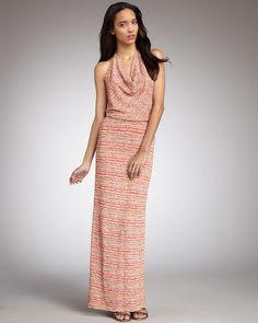 Haute Hippie Halter Gown thestylecure.com