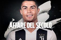 Cristiano Ronaldo alla Juventus, l'annuncio ufficiale: 117 milioni per l'affare del secolo. Cristiano Ronaldo, Messi, Football, Movie Posters, Movies, Christ, Soccer, Futbol, Films