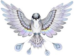 °RainBird by verreaux ~ A bird of Native American legend who brought the rain. Mythical Creatures List, Mythical Birds, Fantasy Creatures, Pretty Birds, Beautiful Birds, Native American Legends, Rain Bird, Art Deco Pattern, Bird Drawings