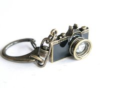 Black Camera Keychain / keyring (R019). $9.90, via Etsy.