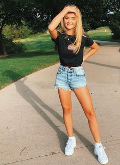 Hot Summer Outfits, Spring Outfits, Summer Clothes, Outfit Ideas Summer, Tumblr Summer Outfits, Casual Summer Outfits For Teens, Summer Fashion For Teens, Mode Outfits, Casual Outfits