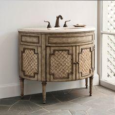 Amazing Ambella Home Demilune Bathroom Vanity Cabinet Design Ideas