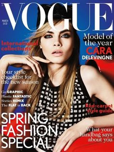 Cover - Best Cover Magazine  - Cara Delevingne's first Vogue UK cover - March 2013. Photos by Mario Testino.   Best Cover Magazine :     – Picture :     – Description  Cara Delevingne's first Vogue UK cover – March 2013. Photos by Mario Testino.  -Read More –