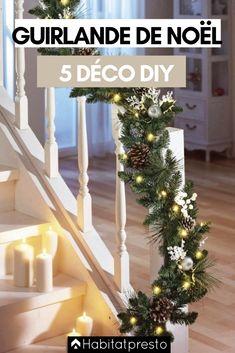 Guirlandes de Noël DIY : 5 déco de fête à faire soi-même #noel #noel2020 #noeltendance #noeldeco #deconoel #deconoelnature #deconoeldiiy #guirlandenoeldiy #guirlandenoelfaitmain #guirlandenoelsapin #guirlandenoelpapier #guirlandenoeldeco #guirlandenoelfacile #guirlandenoelenfant #guirlandenoel Front Door Christmas Decorations, Diy Christmas Garland, Christmas Lights, Holiday Decor, Classy Christmas, Cozy Christmas, Christmas 2019, Christmas Tree Inspiration, Christmas Interiors