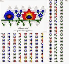 jewelry-blond: Patterns for crochet beads - flower - 2