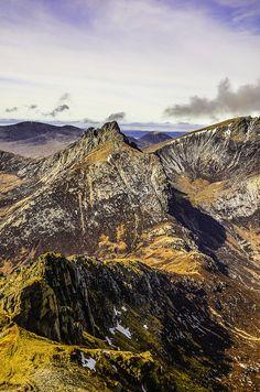 'The Saddle' toward Cir Mhor, Isle of Arran, Scotland