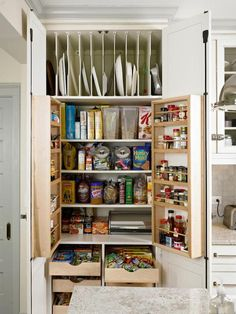 I like the storage for platters and pans but would probably prefer it to be lower so I'm not reaching over my head to pull them down.