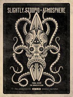 Slightly Stoopid & Atmosphere Berkeley Poster by DKNG Studios