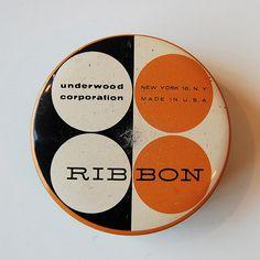 Underwood Typewriter Ribbon Tin. Designer unknown. via Janine Vangool on flickr