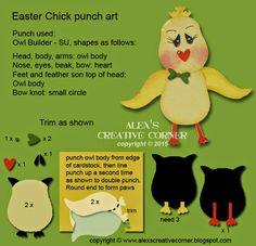Alex's Creative Corner: Chick Easter Gift Card Holder