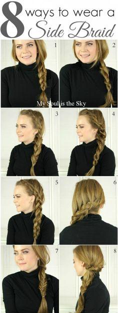 8 Fun Ways to Wear a Side Braid! | Missy Sue