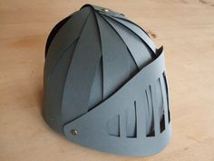 In some regions of Germany, carnival is now being celebrated and everyone's dressing up for parades or parties. This is a knight's helmet my husband made for our son, who wants to be a knight this year.