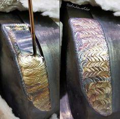 Weld by @toolndiewelder #westcoweld #ukwelding #welding #tigweld #tig #weave #weaveweld #arczone #weldernation #weldporn