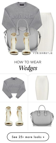 """""""Untitled #1358"""" by visionsbyjo on Polyvore featuring Hervé Léger, Alexander Wang, Givenchy, women's clothing, women's fashion, women, female, woman, misses and juniors"""