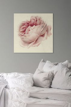 It was Georgius Jacobus Johannes Van Os' fate to become a painter. He was a descendant of several generations of artists. Van Os was a master of still life, especially consisting of flowers and fruits.  Turn your wall into a masterpiece with this Pink Rose by Georgius Jacobus Johannes Van Os. The canvas art print will be a wonderful asset to your living room, bedroom or office. Art Pieces, Canvas Art Prints, Abstract Words, Canvas, Painting, Art, Johannes, Canvas Art, Abstract