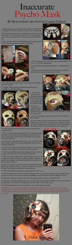 Inaccurate Psycho Mask (Bl2 Tiny Tina cosplay) by MysteryChick1