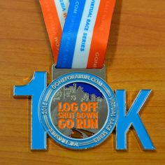 Log Off. Shut Down. Go Run. Virtual 10K Race Medal! Register for upcoming virtual races with friends and family at goneforarun.com