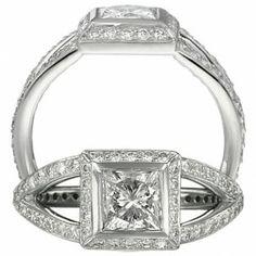Ritani 1PCZ1617HRWG: Diamond Halo, Split Mounting