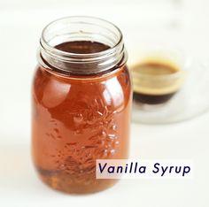Starbucks Vanilla Syrup Recipe, Vanilla Syrup For Coffee, Vanilla Bean Simple Syrup Recipe, Starbucks Recipes, Starbucks Drinks, Starbucks Coffee, Caramel Flavoring, Vanilla Flavoring, Coffee Drinks