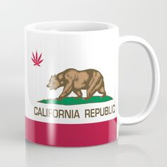 Available in 11 and 15 ounce sizes, our premium ceramic coffee mugs feature wrap-around art and large handles for easy gripping. Dishwasher and microwave safe, these cool coffee mugs will be your new favorite way to consume hot or cold beverages. #california #weed