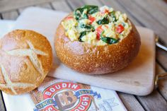 San Francisco Sourdough Scramble. If you love soup in a bread bowl, why not try scrambled eggs in a bread bowl for breakfast!