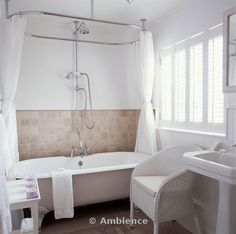 59 Bateau Pedestal Tub With Shower Package