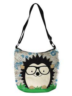 Amazon.com: Nerdy Hedgehog Canvas Cross Body Shoulder Bag: Clothing
