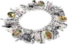 Nutcracker Charm Bracelet Silver Christmas by BlackberryDesigns
