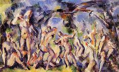 Study of Bathers  - Paul Cezanne