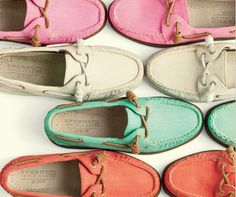 Sperry for J Crew..one pair in each color!!