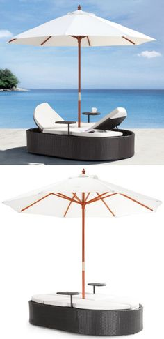 Canopy Double Outdoor Lounger DayBed ♥ L.O.V.E.