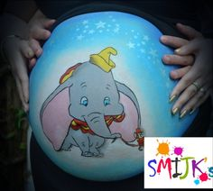 Bellypaint Dombo Belly painting