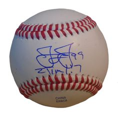 James Jones Autographed Rawlings ROLB1 Leather Baseball, Proof Photo