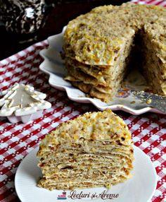 Scutecele Domnului Romanian Desserts, Romanian Food, Romanian Recipes, Vegan Desserts, Delicious Desserts, Yummy Food, Dessert Drinks, Pie Dessert, Cake Recipes