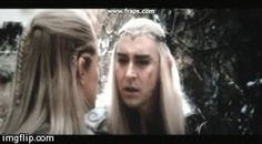 Thranduil Legolas scene. The scene where Legolas volunteers to warn the dwarves and risks being killed. Thranduil's face. Just look: it's his worst nightmare come true. He's just seen many of his kin slaughtered again and now his son is going out there. There's nothing Thranduil can do to stop him either. Fantastic acting by Lee.